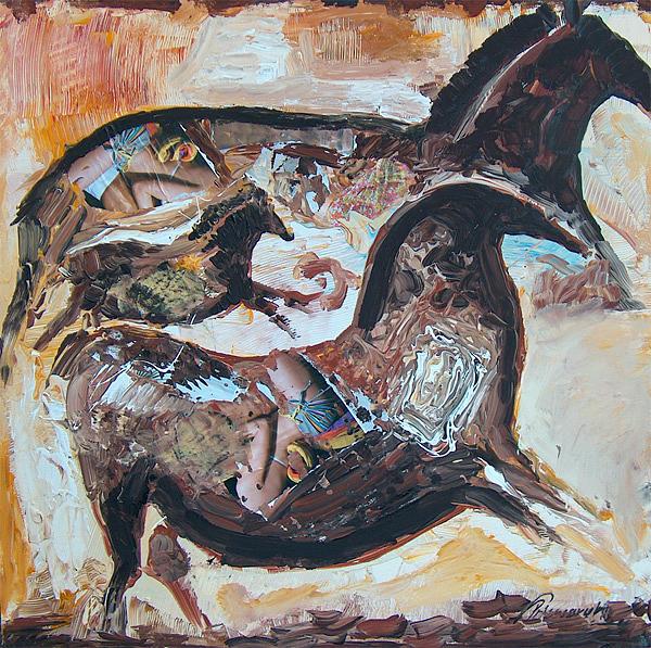 Horses Painting by Prisecaru Radu
