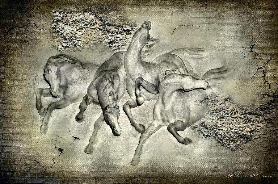 Architecture Digital Art - Horses by Svetlana Sewell