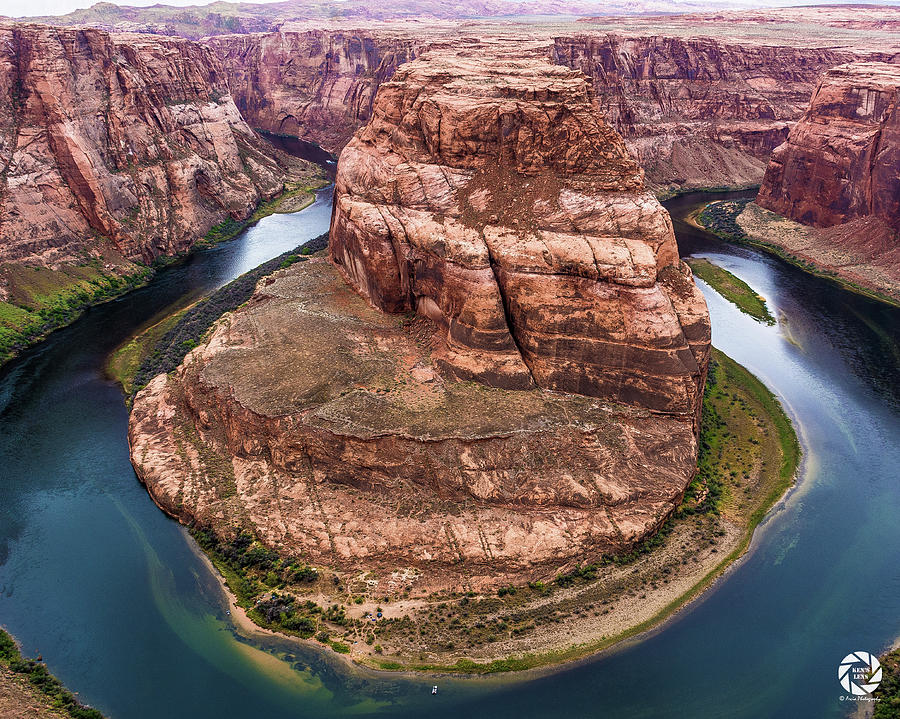 Horseshoe Bend - Aqua by Ken Arcia