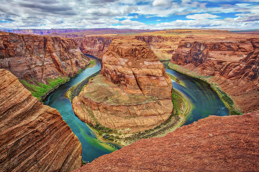 Horseshoe Bend Photograph - Horseshoe Bend - Colorado River - Arizona by Jennifer Rondinelli Reilly - Fine Art Photography