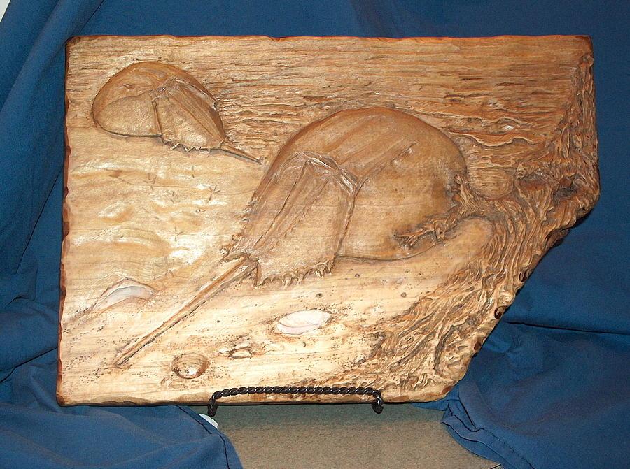 Horseshoe Crabs Relief - Horseshoe Crabs by Doris Lindsey