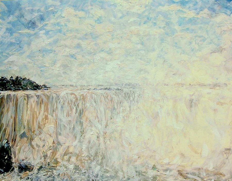 Waterfall Painting - Horseshoe Falls Niagara by Caroline Comings