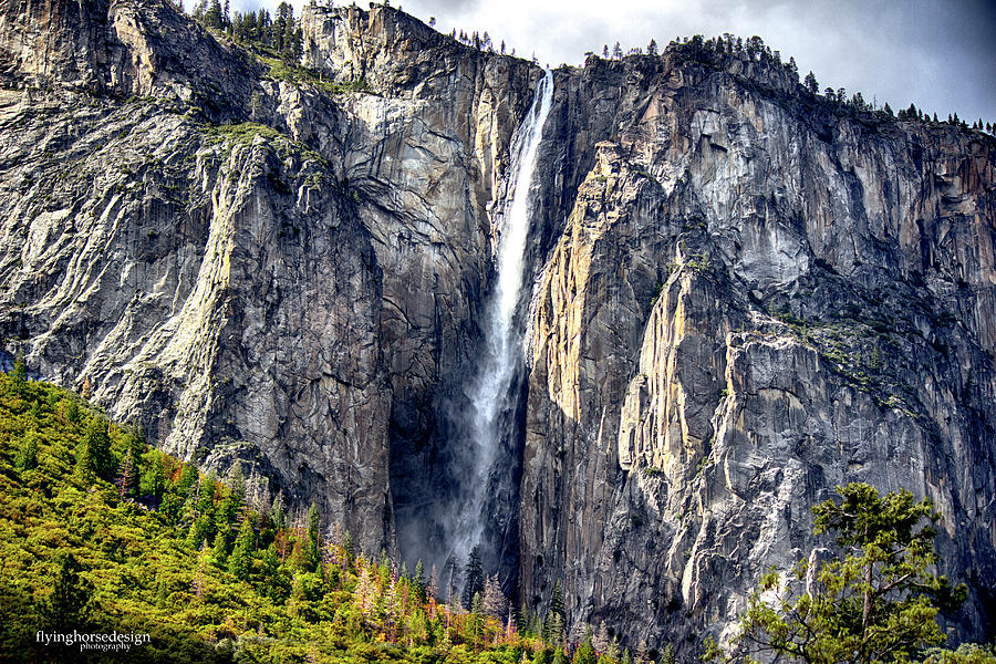 Yosemite Photograph - Horsetail Falls by John Heywood