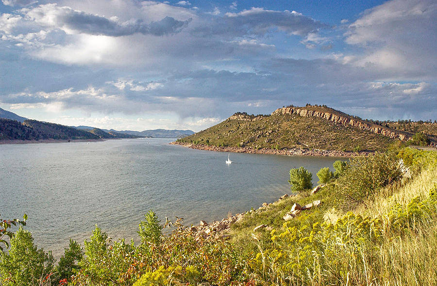 Horsetooth Dam Co Photograph by James Steele