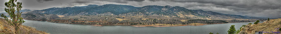 Horsetooth Reservoir Photograph - Horsetooth Reservoir Panoramic Hdr by Aaron Burrows
