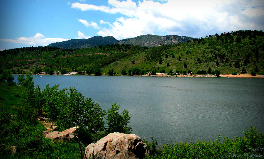 Horsetooth Reservoir Photograph - Horsetooth Reservoir Summer by Aaron Burrows