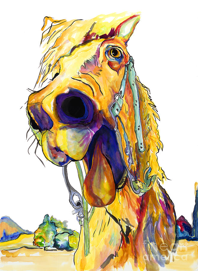 Animal Painting Painting - Horsing Around by Pat Saunders-White