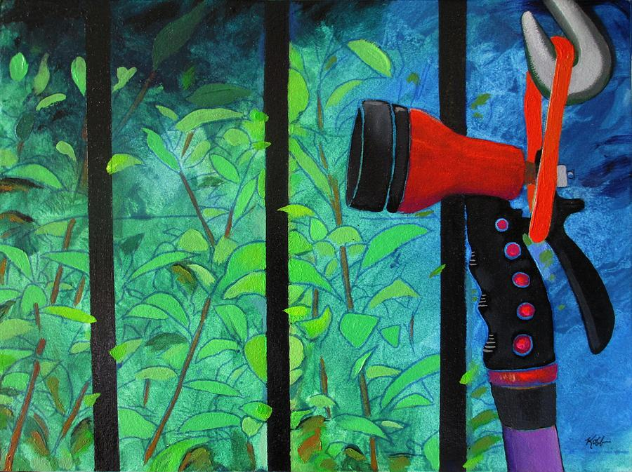 Hose Painting - Hosed by Steve Kobb