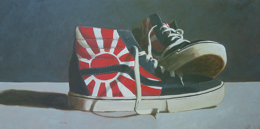 Shoes Painting - Hosoi Vans by John Holdway