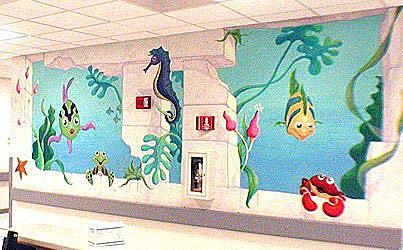Hospital Underwater Mural Painting by Mural Environments