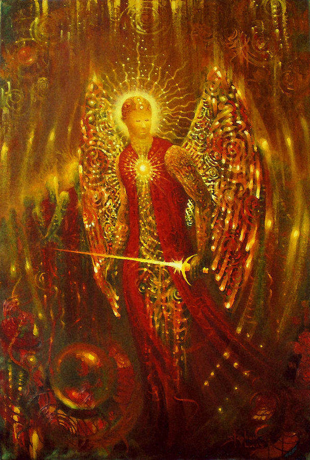 Angel Digital Art - Host Of Holies With One Swing Concludes by Stephen Lucas