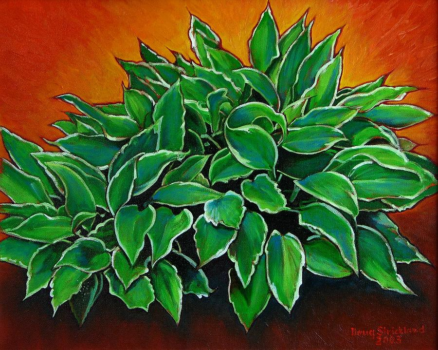 Plant Painting - Hosta by Doug Strickland