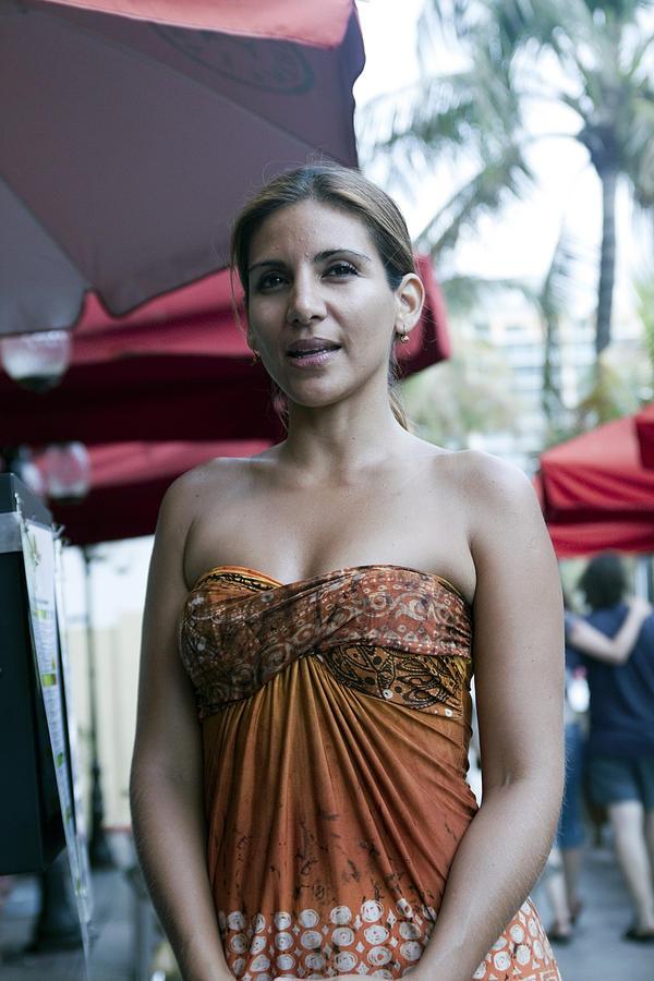 Vertical Digital Art - Hostess At South Beach Restaurant  by Christopher Purcell