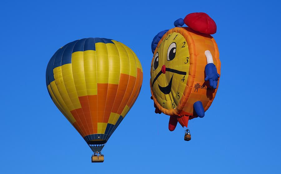 Hot Air Balloon Conversation Photograph by Dart and Suze Humeston