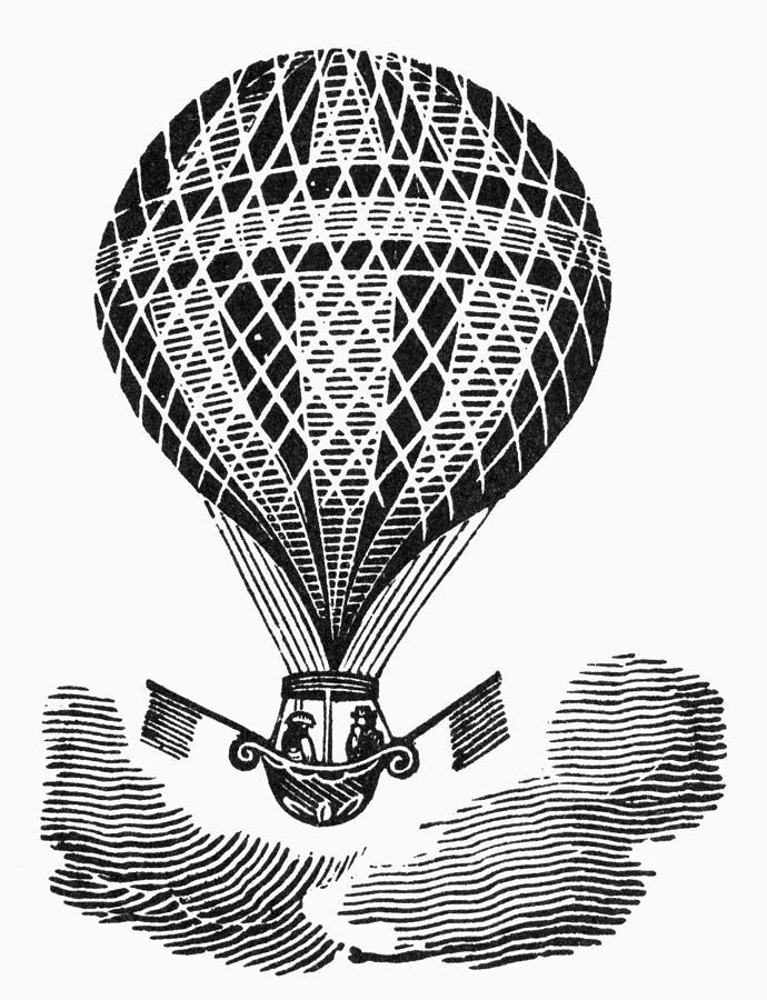 19th Century Photograph - Hot Air Balloon by Granger