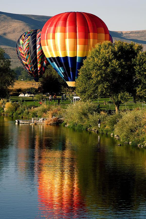 Photo Photograph - Hot Air Balloon Rally by David Patterson