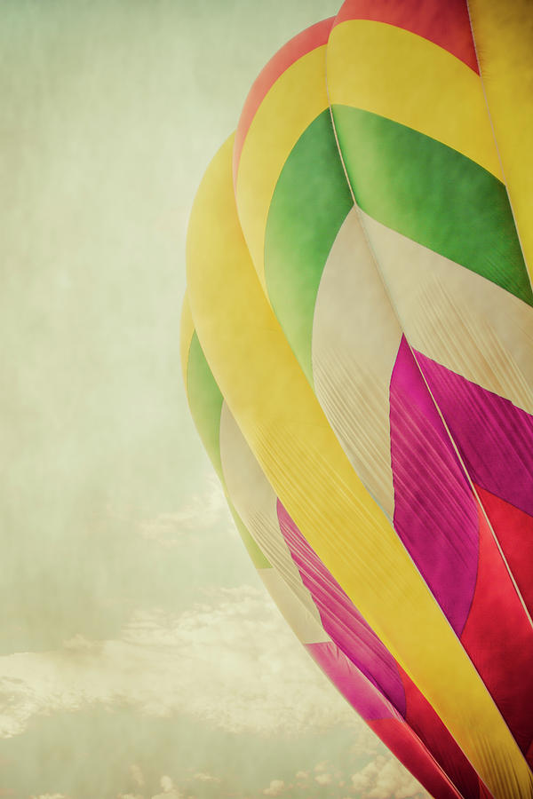 Hot Photograph - Hot Air Balloon With Pastel Sky by Erin Cadigan