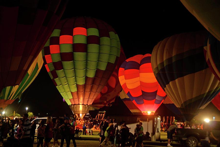 Hot Air Balloons at Night October 28, 2017 #1 by Brian Lockett