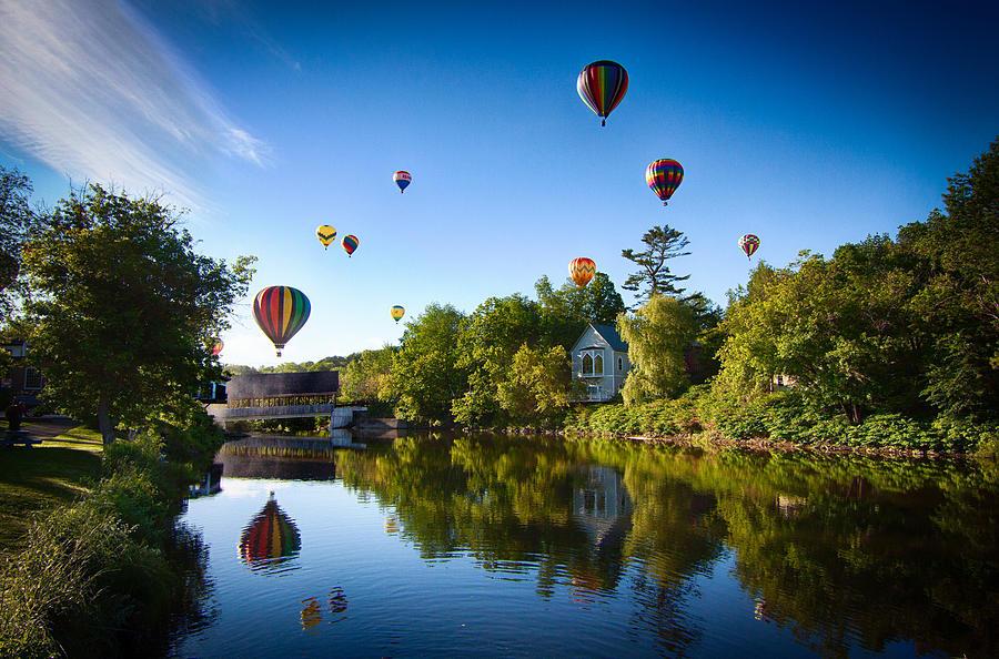 Hot Air Balloons In Quechee Photograph