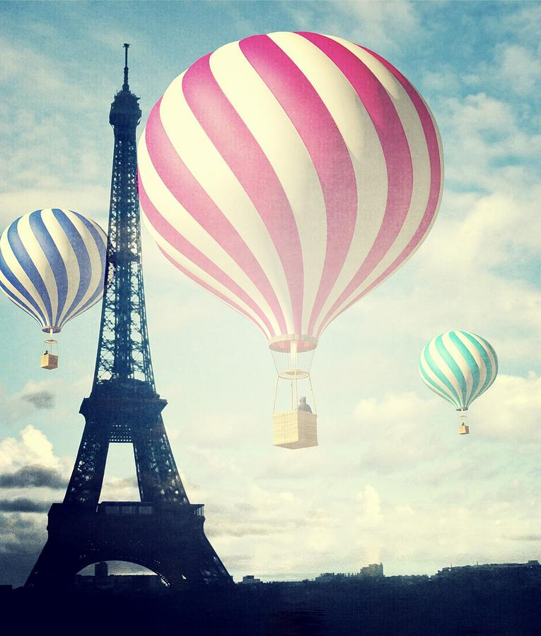 Hot Air Balloons In Paris Photograph