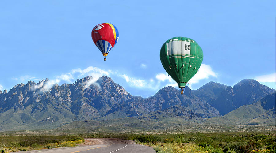 Hot Air Ballons Photograph - Hot Air Over The Organ Mountains by Jack Pumphrey