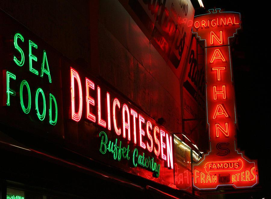 Coney Island Photograph - Hot Dog Nights by Jason Hochman