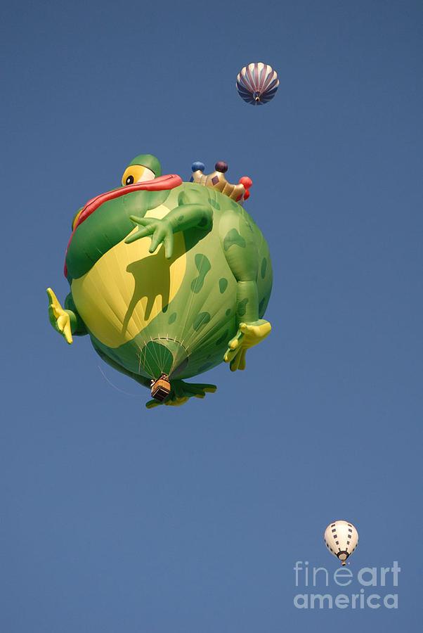 Hot Air Balloon Photograph - Hot Frog by Dennis Hammer