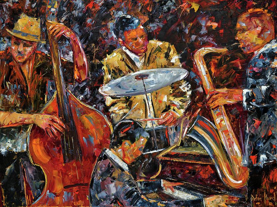 Jazz Painting - Hot Jazz Series 4 by Debra Hurd