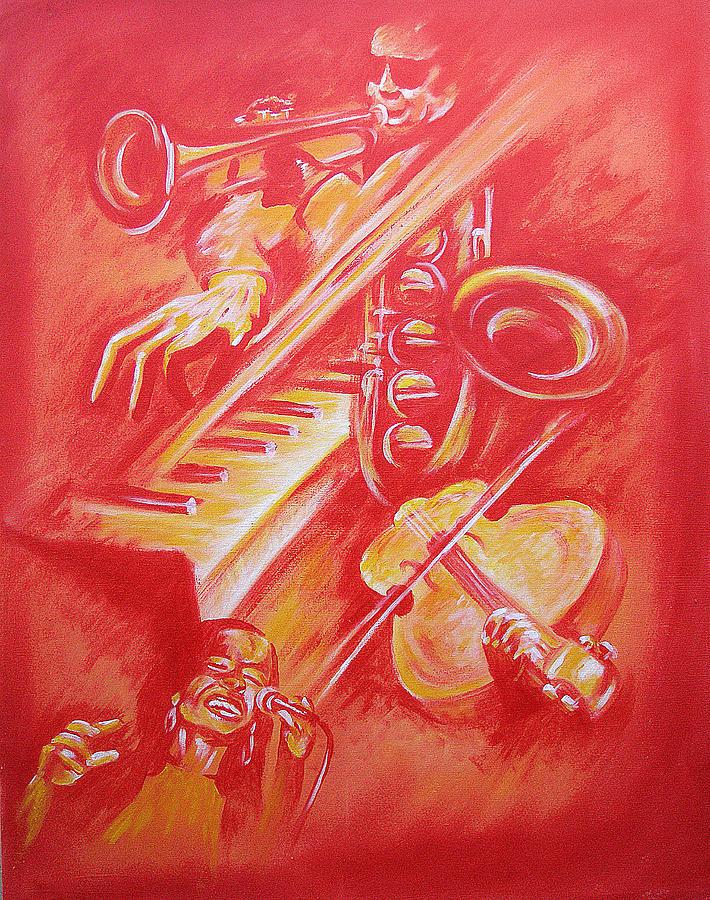 Hot Jazz Painting by Shaun McNicholas