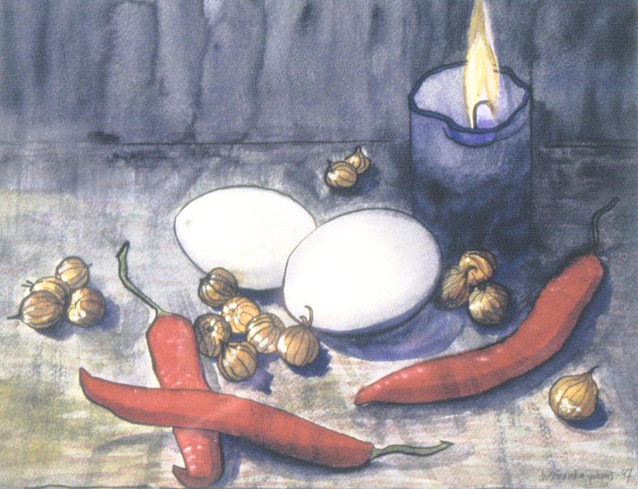 Still Life Painting - Hot Kitchen by Ingela Christina Rahm
