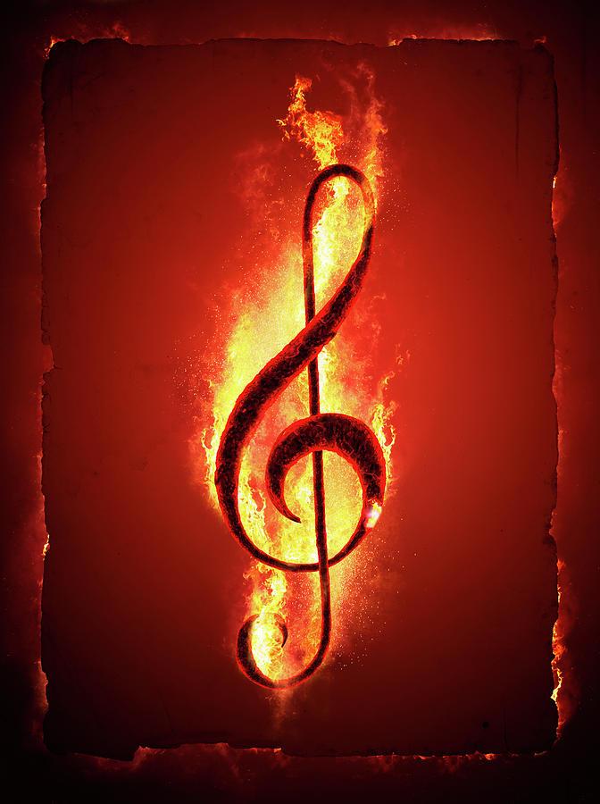 Music Photograph - Hot Music by Johan Swanepoel