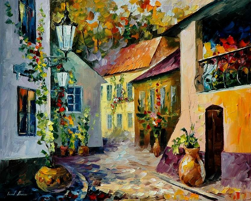 Hot Noon Original Oil Painting Painting By Leonid Afremov