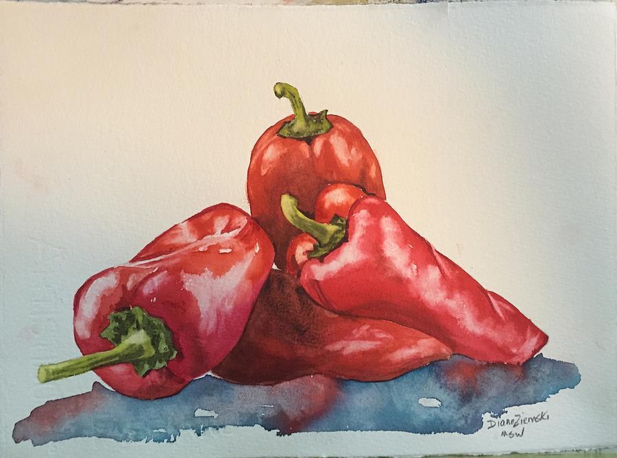 Hot peppers by Diane Ziemski