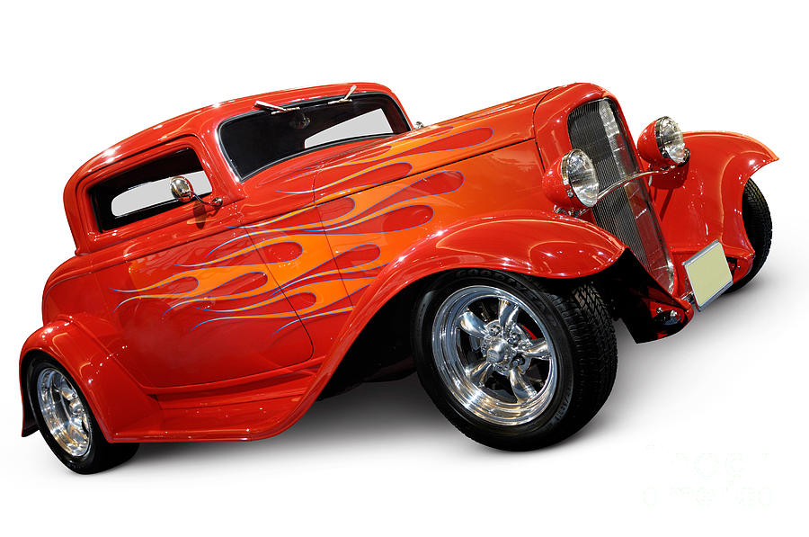 Hot Rod Photograph - Hot Rod Ford Coupe 1932 by Maxim Images Prints