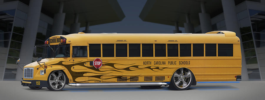 Hot Rod Photograph - Hot Rod School Bus by Mike McGlothlen