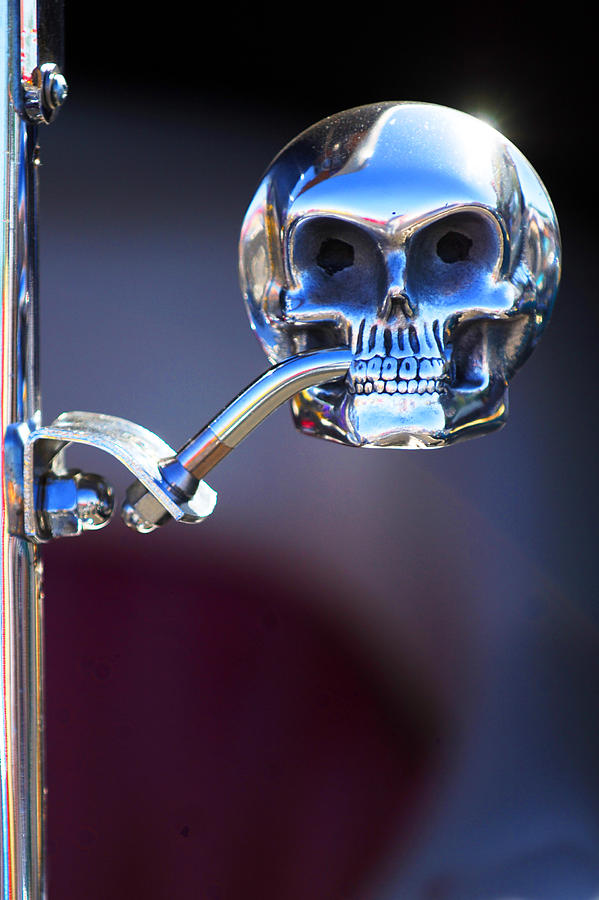 hot rod skull rear view mirror photograph by jill reger. Black Bedroom Furniture Sets. Home Design Ideas