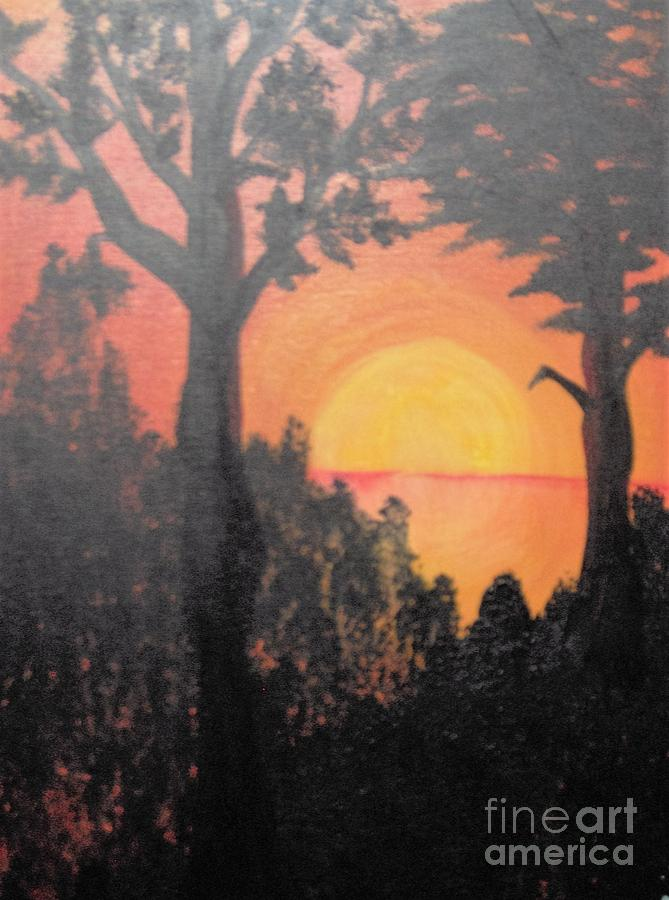 Hot Painting by Saundra Johnson