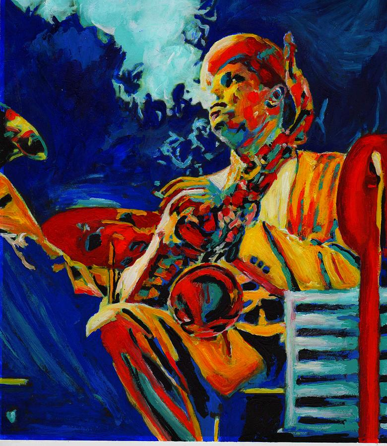 Blues Painting - Hot Sax by Vel Verrept