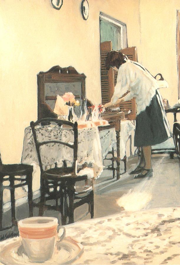Painting Painting - Hot Scones For Tea by Linda Crockett