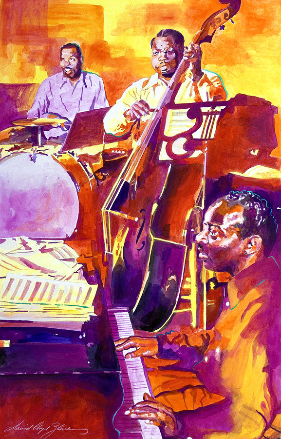 Jazz Artwork Painting - Hot Sessions - Count Basie by David Lloyd Glover