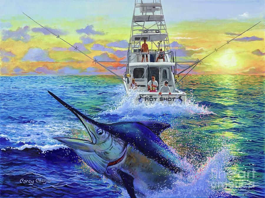 Hot Shot Marlin Painting
