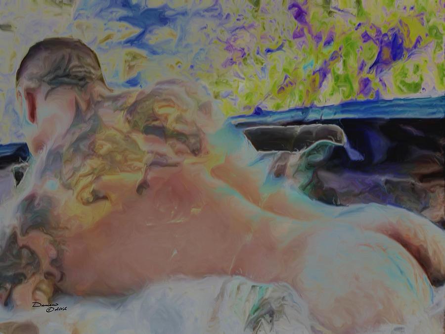 Hot Tub Painting by Damiano Navanzati