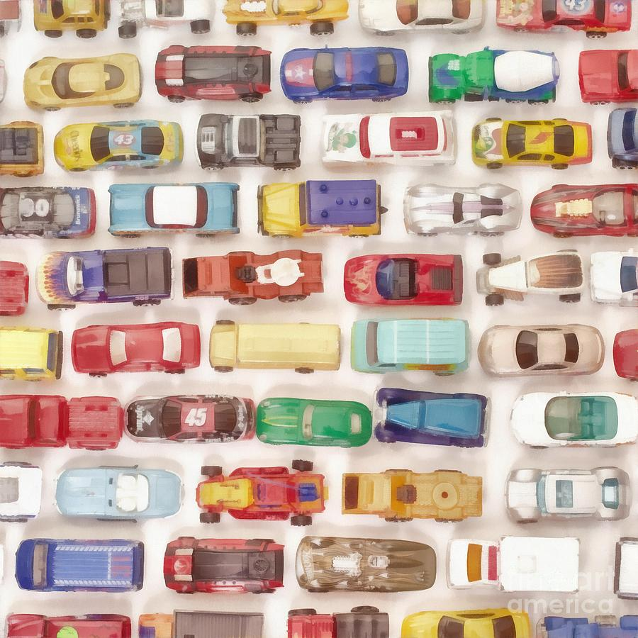 Car Photograph - Hot Wheels Collection Painting by Edward Fielding