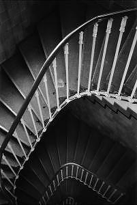Winding Staircase Photograph - Hotel Astoria Staircase  Budapest by K Randall Wilcox