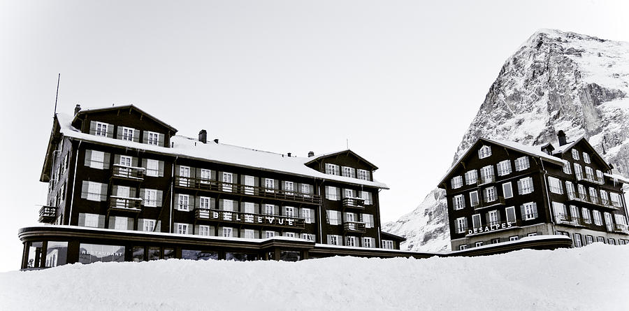 hotel bellevue des alpes and eiger nordwand photograph by frank tschakert. Black Bedroom Furniture Sets. Home Design Ideas