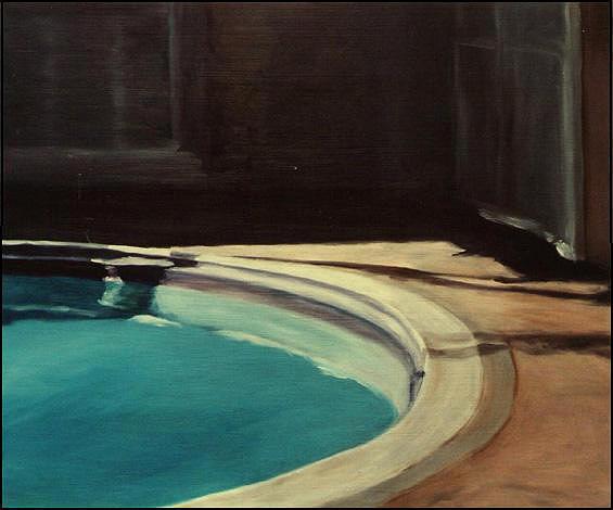 Pool Painting - Hotel Del Capri by Noah Levin