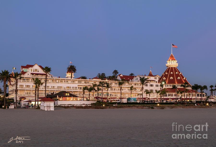 Hotel Del Coronado At Twilight Photograph by Jeffrey Stone