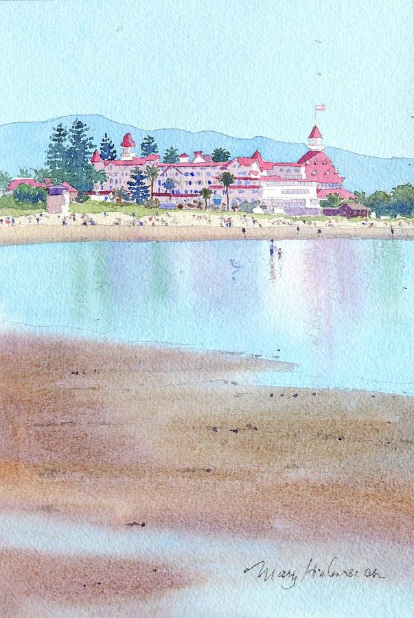 Hotel Del Coronado Low Tide by Mary Helmreich
