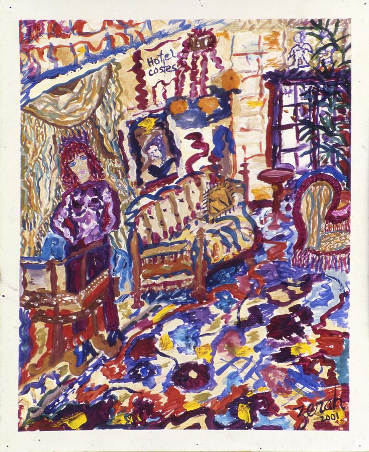 Paris Painting - Hotel Costes by Lorin Zerah