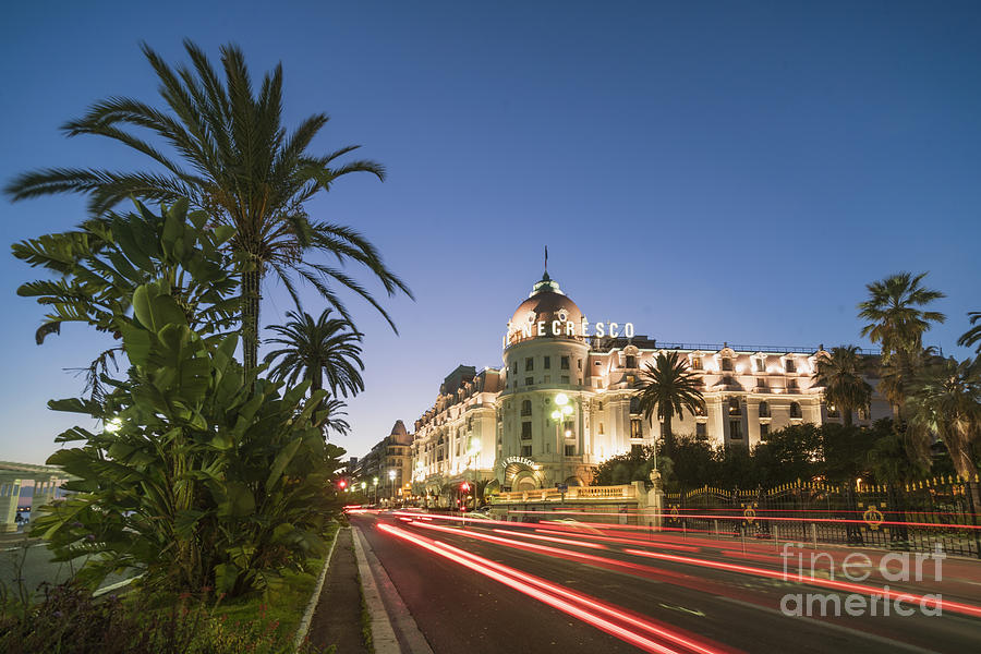 Provence Photograph - Hotel Negresco Nice  by Juergen Held